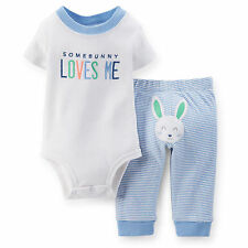 Carters Baby Boys Easter Bunny Bodysuit Set 3 6 9 12 18 24 Months Outfit
