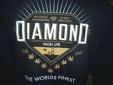 NEW Diamond Supply Co navy blue crew neck sweatshirt sz small medium large XL