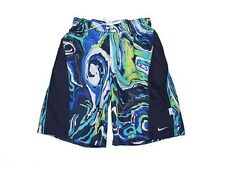 NWT Nike Kids Tidal Wave Splice Volley Shorts Bathing Swim Suit Sail Blue