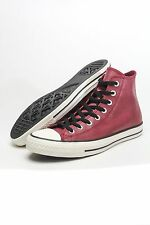 Converse Chuck Taylor Hi Leather (Oxheart) Burgundy Maroon NEW Authentic 144762C