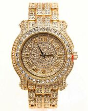 New Techno Pave Lab Diamond Iced Out Hip Hop Bling Men's Wristwach