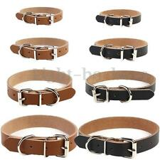 Cow Leather Dog Pet Cat Puppy Collar Neck Buckle Adjustable Gift
