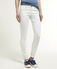 New Womens Superdry Ankle Grazer Jeans Optic White VHJ
