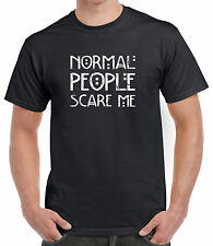 NORMAL PEOPLE SCARE ME (Crushed Text) Halloween Unisex T-Shirt