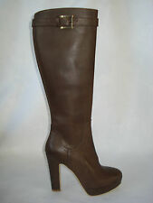STIVALE DONNA marrone 100%VERA PELLE 35/37/38/39MADE ITALY FOD.PELLE-CHERRY-BOOT