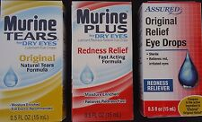 EYE DROPS for Relief Redness Dry Eyes, SELECT: Eye Drop Type