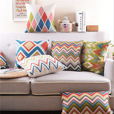 Geometric Pillow Cases Home Sofa Bed Cushion Cover 5 Patterns 45*45cm