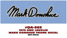 QA-962 1970 AMC - AMERICAN MOTORS - JAVELIN - MARK DONOHUE - TRUNK DECAL