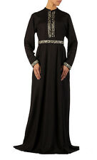 Akua belted rayon abaya/ Islamic Clothing Jilbab long dress