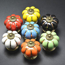 Ceramic Bedroom Cabinets Cupboard Drawers Door Knobs Pulls Handles Floral Design