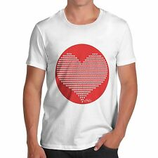 Men Funny Novelty Valentines Gift Love Red Heart Pattern T-Shirt