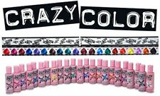 CRAZY COLOR COLOUR SEMI PERMANENT HAIR DYE - 1, 2, 4 or 8 packs available