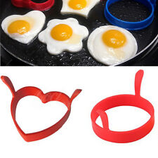 1 2PC Kitchen Tool Silicone Fried Oven Poacher Pancake Egg Ring Mould Mold