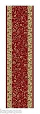 Custom Size Stair Hallway Runner Rug Red Traditional Rubber Back Non Skid #1200
