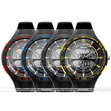 OHSEN Analog Digital LCD 3-Time Zone Date Stopwatch Sport Watch Rubber Band Gift