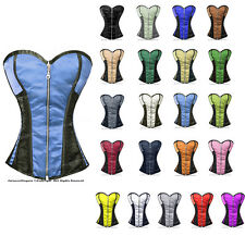 100% Full Steel Boned Heavy Lacing Satin Overbust Shaper Corset #8106