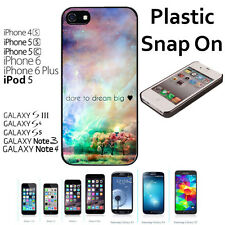 Dare To Dream Big Nebula Case For iPhone 4S/5/5S/5C/6/6+Galaxy S4/S5-Snap On