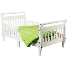 Sleigh Toddler Bed Kids Bedroom Furniture Girls Boys Bedding Set with Wood NEW