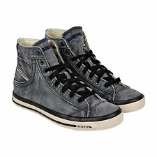 Diesel Exposure I Mens Gray Canvas High Top Sneakers Shoes