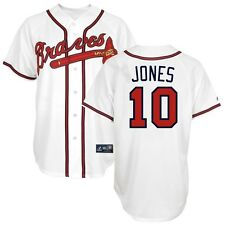 2012 Chipper Jones Atlanta Braves Home (White) Replica Jersey Men's