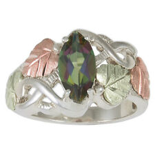 Black Hills Gold womens ring mystic fire topaz on silver size 4 5 6 7 8 9 10