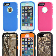 For iPhone 5 5S Shockproof Heavy Duty Defender Screen Protector Back Case Cover