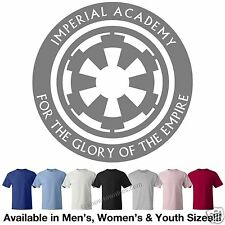 Star Wars Imperial Academy w/ Slogan T-Shirt Avail. 7 Colors in M/W/Y Sizes