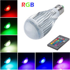 10W E27 Led RGB Color Changing Bombillas Bulb Light Ceiling Spotlight +IR Remote