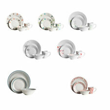 16pcs / 12pcs Dinner Set Porcelain Finish Dining Tableware Plates / Cups / Bowls
