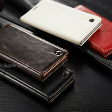 iPhone 5 / 6 / 6 PLUS Handy Echtleder Tasche Etui Flip Case Cover Hülle Leder