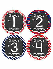 Personalized Baby Boy Monthly Stickers Custom Baby Name Boys Month Sticker 487