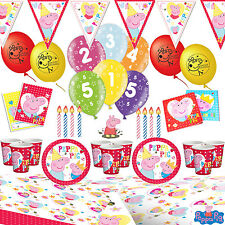 PEPPA PIG ULTIMATE BIRTHDAY PARTY KIT For 16 TABLEWARE CUPS NAPKINS DECORATIONS