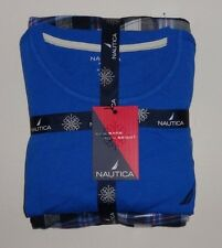 NAUTICA MENS 2 PIECE SLEEPWEAR LOUNGE PANTS  BLUE WHITE  ORANGE L, XL NEW