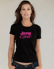 JEEP GIRL Black T Shirt BRAND NEW vinyl print COOL RAVE