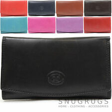 Ladies / Womens Leather Tri-Fold Purse with Multiple Pockets / Credit Card Slots