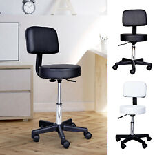 HomCom Salon Massage Chair Stool Adjustable Height SPA Swivel Furniture