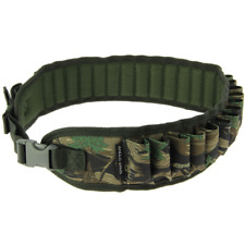 Shotgun 12 & 20 Bore Camo Cartridge Quick Release Belt For Clay Shooting Hunting