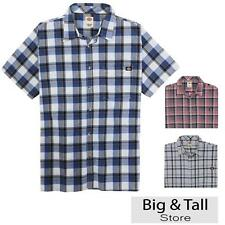 Big & Tall Men's Dickies Plaid Casual Shirt 3XL 4XL 2XLT 3XLT Lightweight