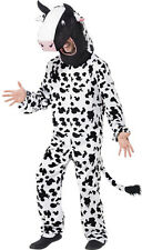 Full COW Costume Mens Womens Black & White Fancy Dress Halloween Mascot Adults
