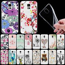 For Samsung Galaxy S4 S5 i9600 Ultra Thin TPU Soft Case Cover Colored Drawing