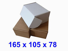 White or Brown Cardboard Postal Boxes, Multi Listing - 165 x 105 x 78mm