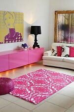 Plantation Rugs Baroque And Roll Pink White Luxury Rug 160cm x 230 cm £280