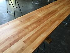 Prime Cherry Solid Wood Worktop, 40mm staves, Hard Timber, Darker than oak,beech