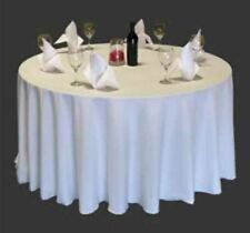 108 Inch polyester White Round Tablecloth Event Wedding Banquet Table Cloth
