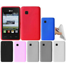 For Tracfone LG 840G Color SILICONE Soft Gel Skin Rubber Case Cover Accessory