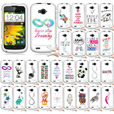 For ZTE Savvy Z750C Be My Penguin TPU SILICONE Soft Rubber Flexible Case Cover