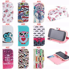 Wallet Flip Card Case Cover For Samsung Galaxy Fresh Duos Trend Lite S7392 S7390