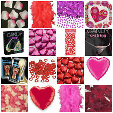 VALENTINES DAY ESSENTIALS ROSE PETALS CHOCOLATES NOVELTY GIFTS PARTY DECORATIONS