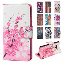 Flip Flower Stand Leather Wallet Card Hard Case Cover For Samsung Galaxy Phones