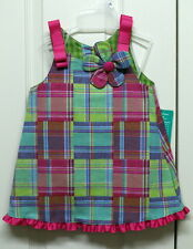 Girls Madras Dress with Panties -  Size 12mth, 18mth, 24mth